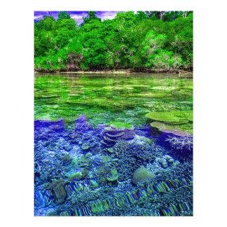 Flyer Litoral tropical do recife de corais