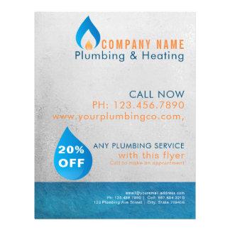Flyer Logotipo heated da gota da água do canalizador