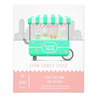 Flyer Loja dos doces da rua da comida