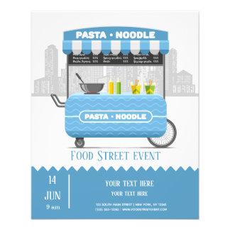 Flyer Macarronete da massa da rua da comida