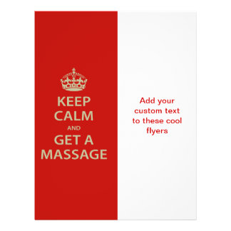 Flyer Mantenha a calma e obtenha uma massagem