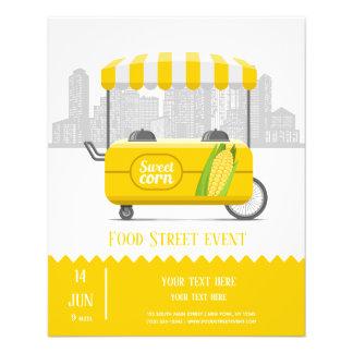 Flyer Milho doce da rua da comida