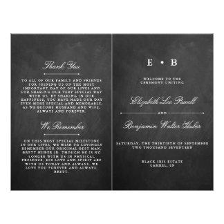 Flyer Modelo chique do programa do casamento do quadro
