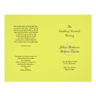 Flyer Modelo Wedding dobrado católico do programa do