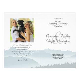Flyer Modelo Wedding dobrado montanhas do programa da