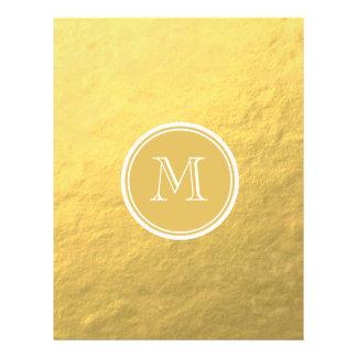 Flyer Monograma do fundo da folha de ouro do encanto