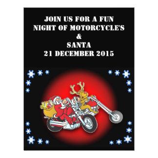 Flyer Muito Feliz Natal do papai noel deste motociclista