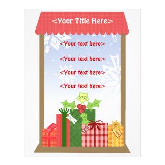 Flyer Negócio das cenas do Natal ou pessoal feito sob