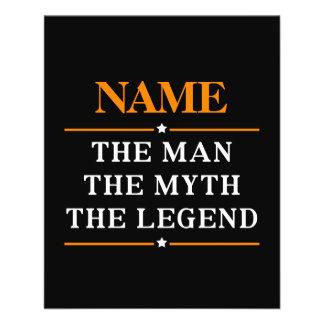 Flyer Nome personalizado o homem o mito a legenda