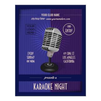 Flyer O clube/partido incorporado do karaoke adiciona a