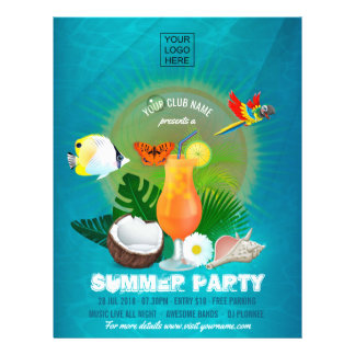 Flyer O clube/partido incorporado do verão adiciona o