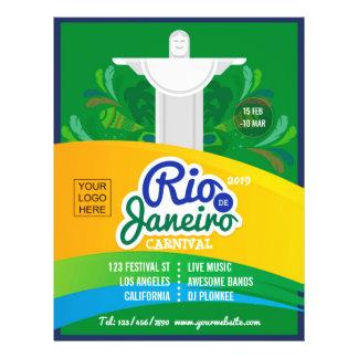 Flyer O costume do carnaval de Rio de Janeiro adiciona o
