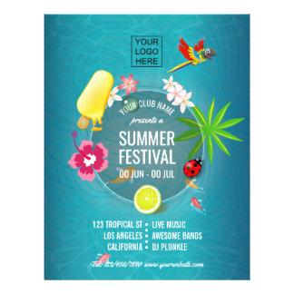 Flyer O costume do festival do verão do clube adiciona a