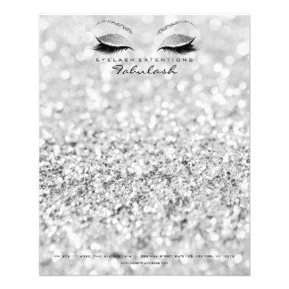Flyer O estúdio da beleza chicoteia a prata Gray1 do