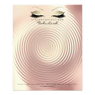 Flyer O estúdio da beleza chicoteia o Lux do ouro do
