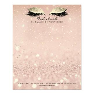 Flyer O estúdio da beleza chicoteia o ouro Blush1 do