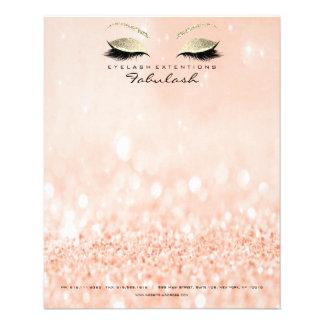 Flyer O estúdio da beleza chicoteia o pêssego do ouro do