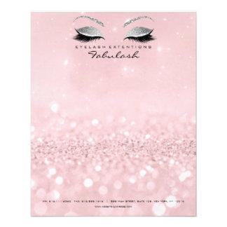 Flyer O estúdio da beleza chicoteia o rosa da prata do
