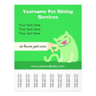 Flyer O gato do baby-sitter do animal de estimação