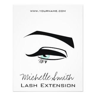Flyer O henna preto dos olhos azuis do Eyeliner compo o