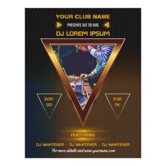 Flyer O partido da música de dança do DJ do clube