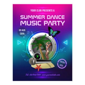Flyer O partido da música de dança do verão do clube