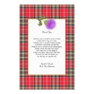 Flyer Obrigado que escocês do poema do casamento do