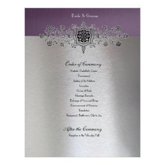 Flyer Ordem de prata roxa de cerimónia