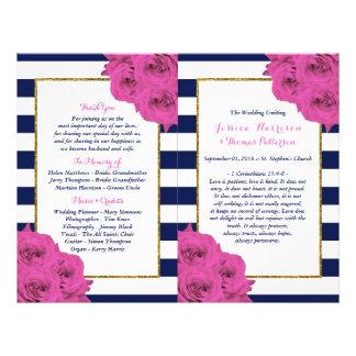 Flyer Os rosas Luxe modernos chiques do rosa da coleção