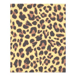 Flyer Padrões da pele animal do impressão do leopardo
