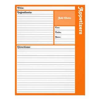 Flyer Páginas alinhadas da receita (alaranjadas)