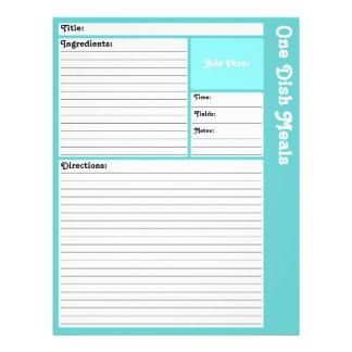 Flyer Páginas alinhadas da receita (Aqua claro)