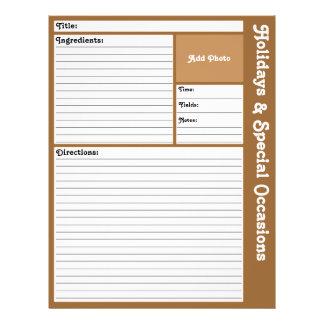 Flyer Páginas alinhadas da receita (Brown)