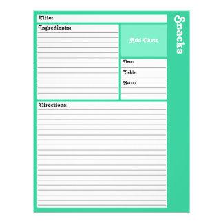 Flyer Páginas alinhadas da receita (cerceta clara)