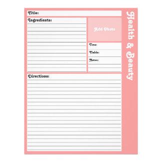 Flyer Páginas alinhadas da receita (rosa)
