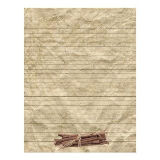 Flyer Páginas alinhadas papel amarrotadas da receita das