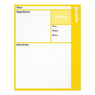 Flyer Páginas da receita (amarelo)