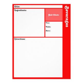 Flyer Páginas da receita (vermelhas)
