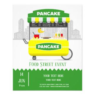 Flyer Panqueca da rua da comida