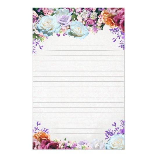 "Flyer Papel de carta ""Flores"""