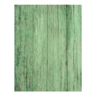 Flyer Papel de madeira verde afligido rústico