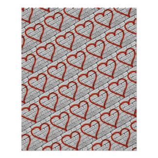 Flyer Papel vermelho do álbum de recortes dos corações