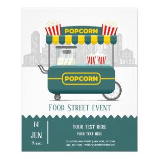 Flyer Petisco da pipoca da rua da comida