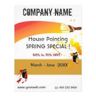 Flyer Pinte a manutenção da pintura de casa do pintor