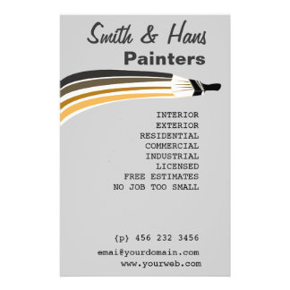 Flyer Pintor de casa profissional