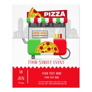 Flyer Pizza da rua da comida