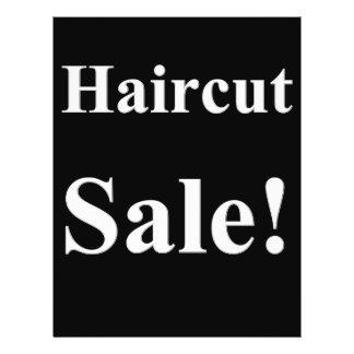 Flyer Posters da venda do corte de cabelo do barbeiro do