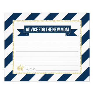 Flyer Príncipe Conselho do ouro do marinho para a mamã