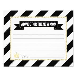 Flyer Príncipe preto Conselho do ouro para a mamã nova