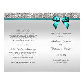 Flyer Programa da cerimónia de casamento dos Sequins da